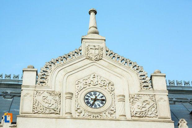 Palatul Administrativ - detaliu (1904-1905), azi Prefectura Județului Galați, Strada Domnească 56, Galați; arhitect Ion Mincu
