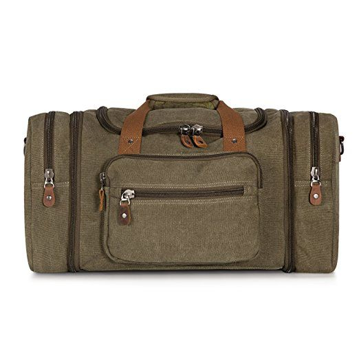 Men Women Outdoor Sports Gym Real Leather Duffel Bag Weekend Overnight Luggage