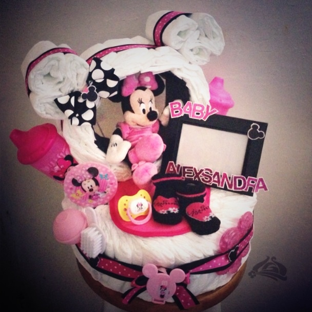 Minnie Mouse Baby Shower Cake Images : BABY SHOWER~Minnie Mouse diaper cake Mickey Mouse ...