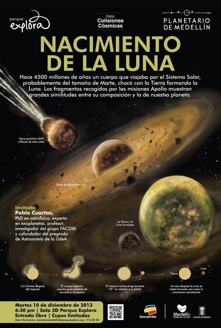Nacimiento de la luna #Astronomía