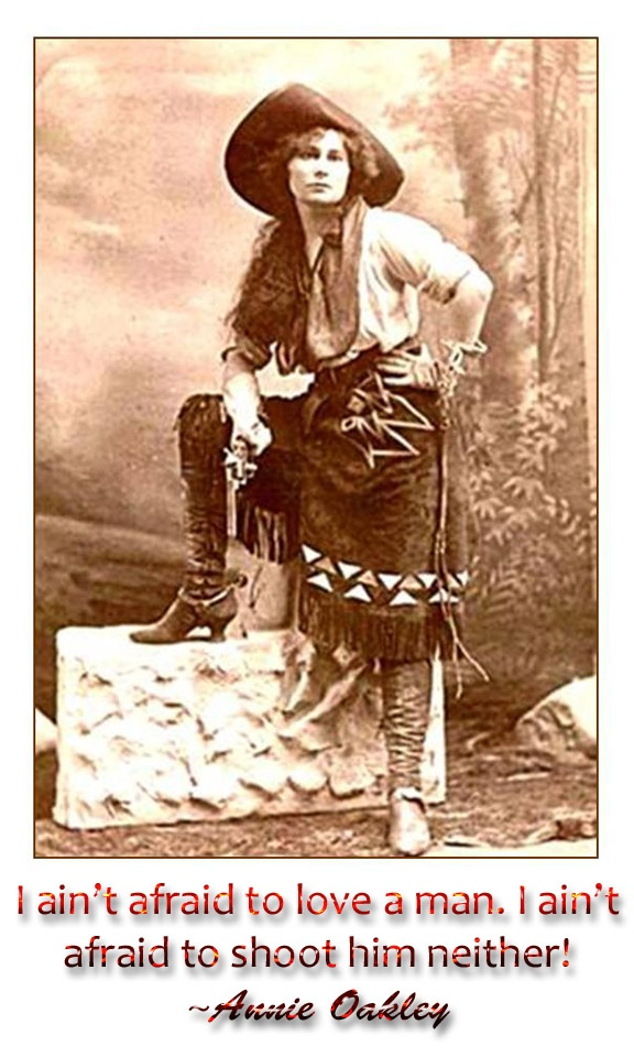Annie Oakley...not bad for that time period at all... | Famous ...