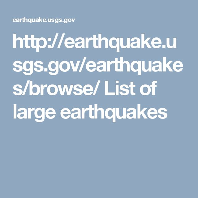 25+ best ideas about Usgs earthquake list on Pinterest | United ...