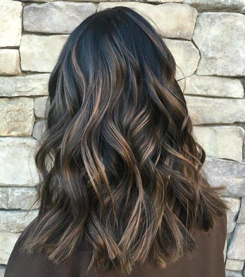 Best 25 black hair with highlights ideas on pinterest balayage 16 black hair with brown highlights pmusecretfo Image collections