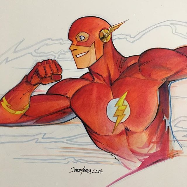 Flash by Dan Mora #flash #watercolor