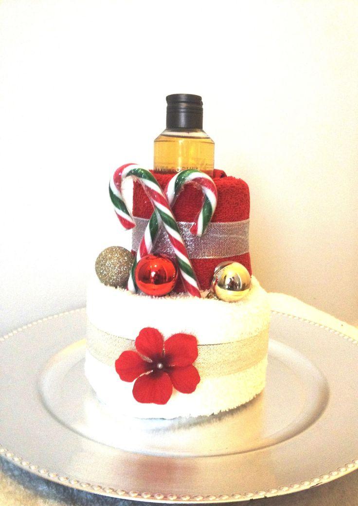 Cadeau de Noël nounou - Gâteau de serviette Noël - Cadeau original pas cher