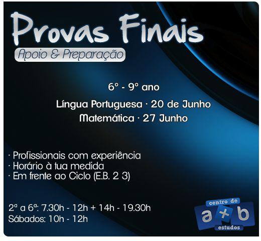 Provas Finais - Centro de Estudos A+B