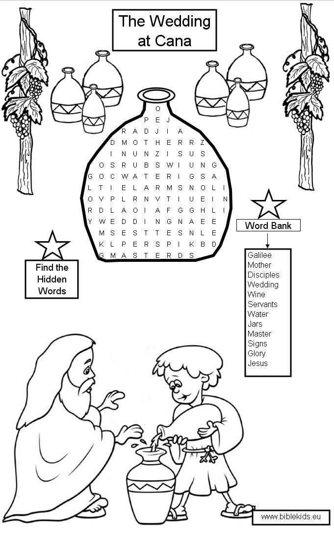 Coloring Pages For Jesus Turning Water Into Wine : Best images about wedding at cana on pinterest