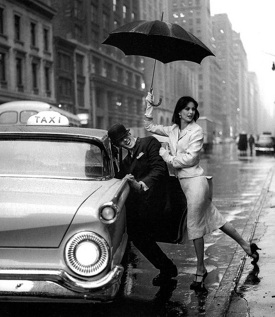 With Fabian Malloy, New York, 1958
