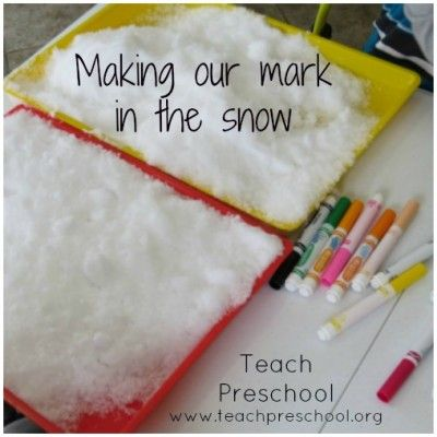 Making our mark in the snow by Teach Preschool
