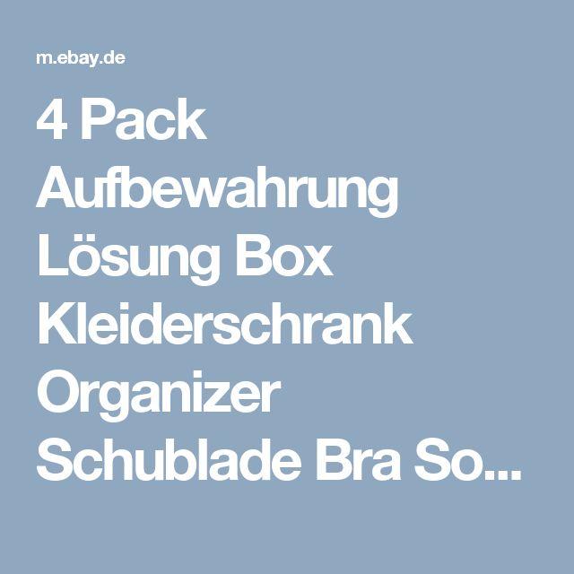 Amazing  Pack Aufbewahrung L sung Box Kleiderschrank Organizer Schublade Bra Socken BH eBay