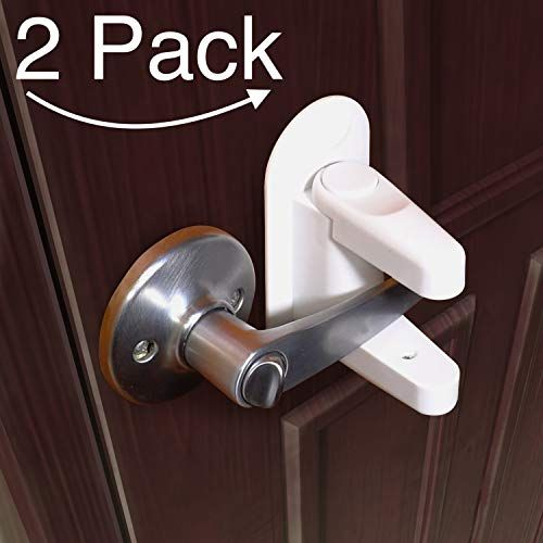 Door Lever Lock 2 Pack Child Proof Doors Handles 3m Adhesive 16 95 Childproofing Door Handles Door Levers