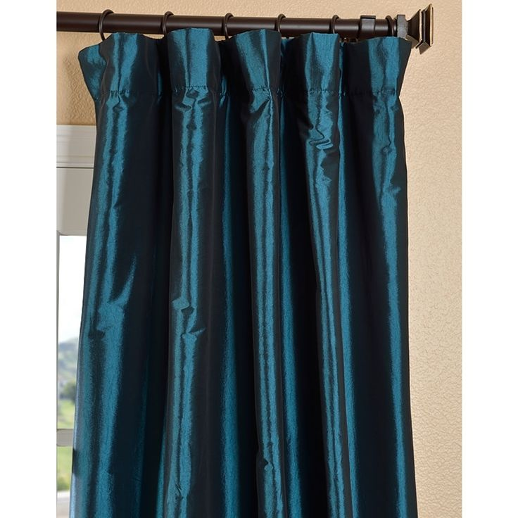 Solid Faux Silk Taffeta Mediterranean Curtain Panel | Overstock.com Shopping - The Best Deals on Curtains
