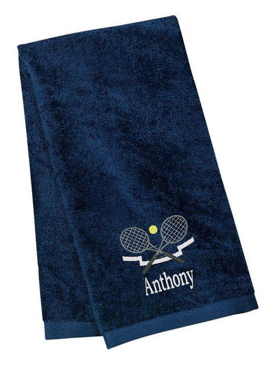Personalized Tennis Towel Tennis Custom Name Initials