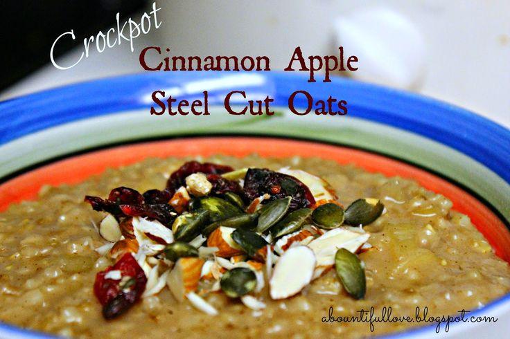 Crockpot Steel Cut Oats- Serve as a healthy meal or snack!