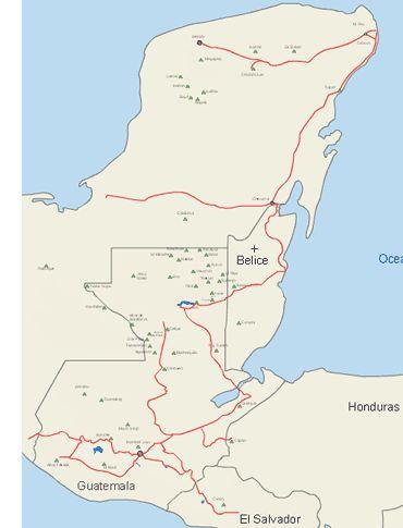 Transportes terrestres por la Ruta Maya: Línea de buses - Ciudades Mayas - turismo y viajes por la Ruta Maya