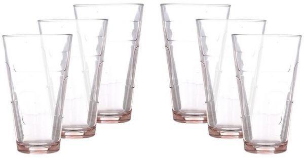 Pasabahce Glass Hi Ball 340 Cc Glass Set 6 Pieces Pink Glass Set Glass Settings