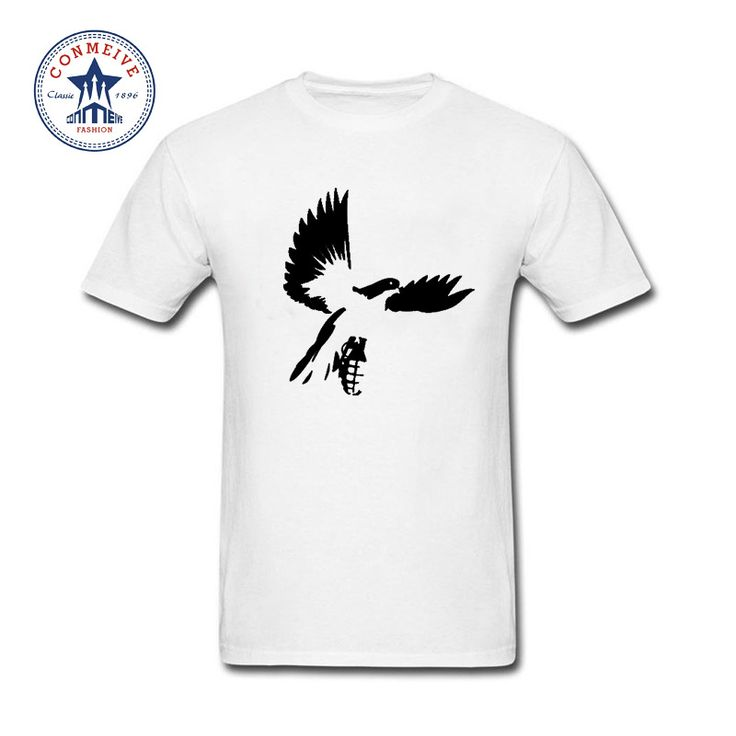 2017 Natural Cotton Hollywood undead Bird Pigeon Funny T Shirt for men #Affiliate