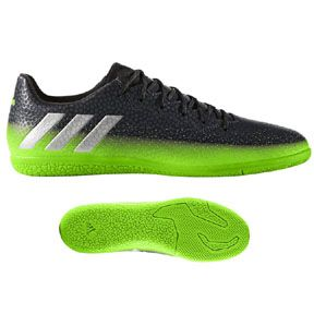 adidas Lionel Messi 16.3 Indoor Soccer Shoes (Gray/Neon): http://www.soccerevolution.com/store/products/ADI_13151_F.php
