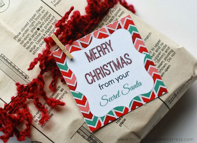 It's just a picture of Exhilarating Secret Santa Gift Tags Printable Free