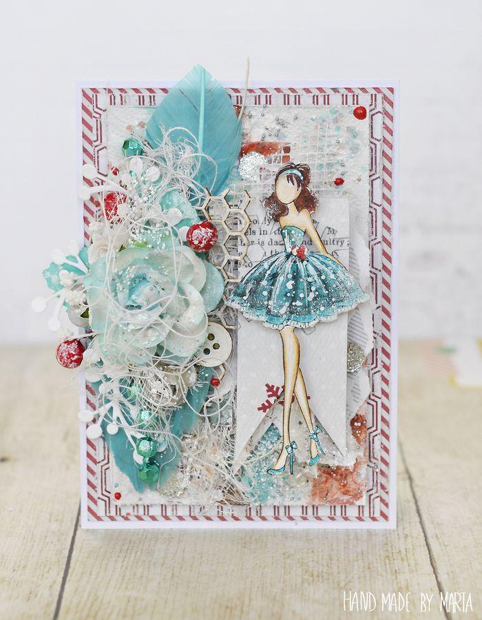 Card by Marta Piekarczyk #primachristmas #prima #holidays