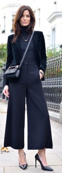 Black City Chic Culottes by They All Hate Us