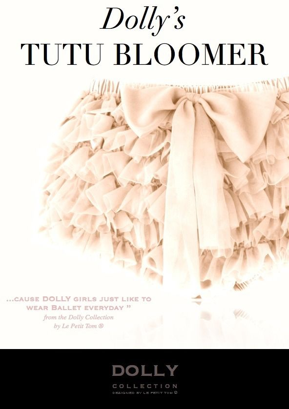 DOLLY by Le Petit Tom ® TUTU BLOOMER Cream: Little Girls, Dolly By Le Petite Toms, Tutu Bloomers, Dolly Collection, Flowers Girls, Ballet Tutu, Baby Girls, Bloomers Cream, Dolly Tutu