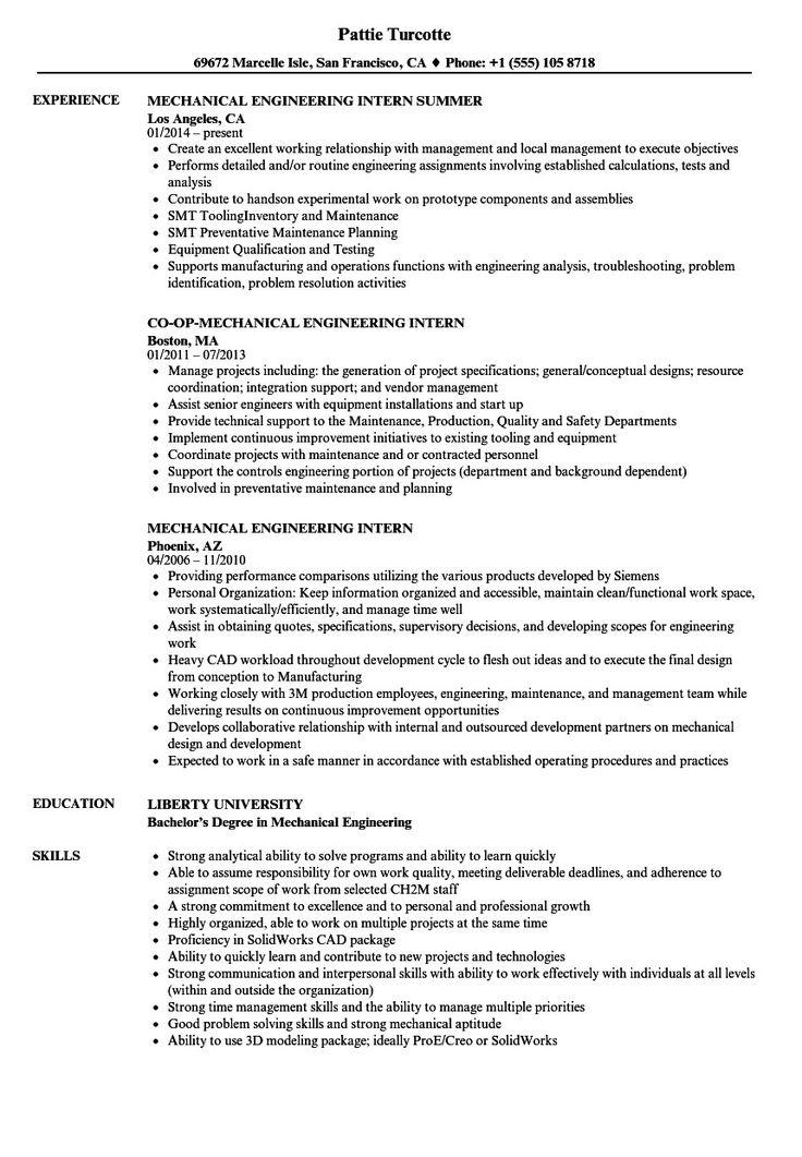 Mechanical engineer resume sample more mechanical