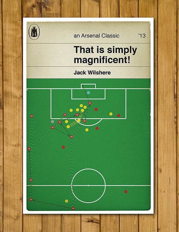 Arsenal FC - Jack Wilshere - Penguin Classic Book Cover Poster (UK and US sizes available)