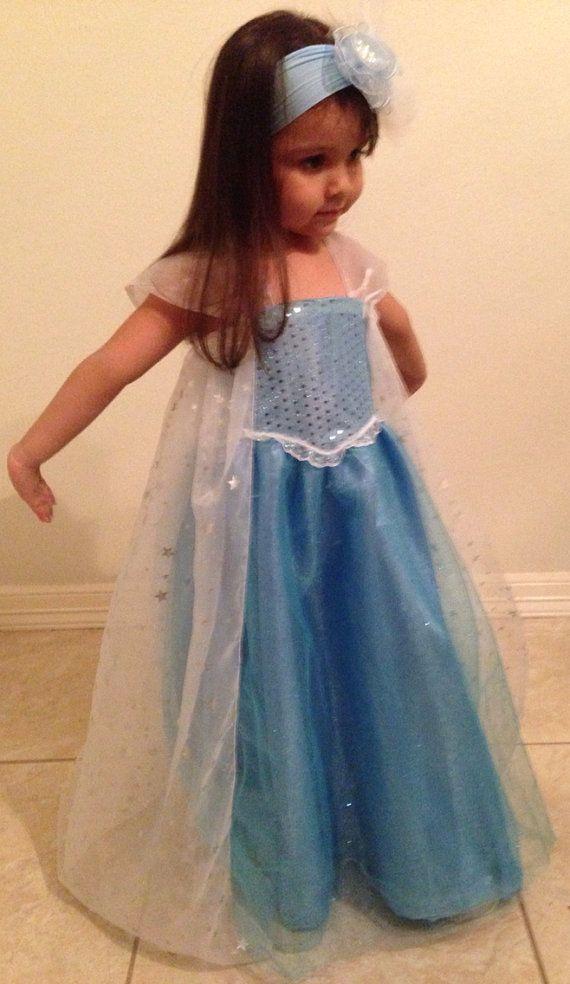 RUSH ORDER Elsa Frozen Princess Snowqueen Tutu Party Costume Dress