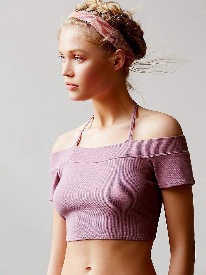 d17d9a4554736c Free People Off The Shoulder Crop Top