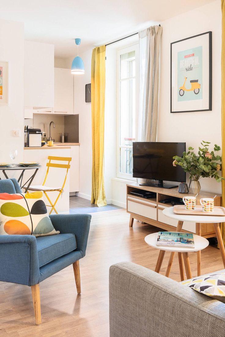 Mustard Living Room Decor: Mustard And Blue Living Room