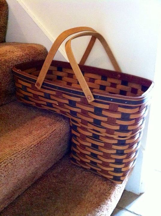 Longaberger Odds Ends Stair Step Basket Combo