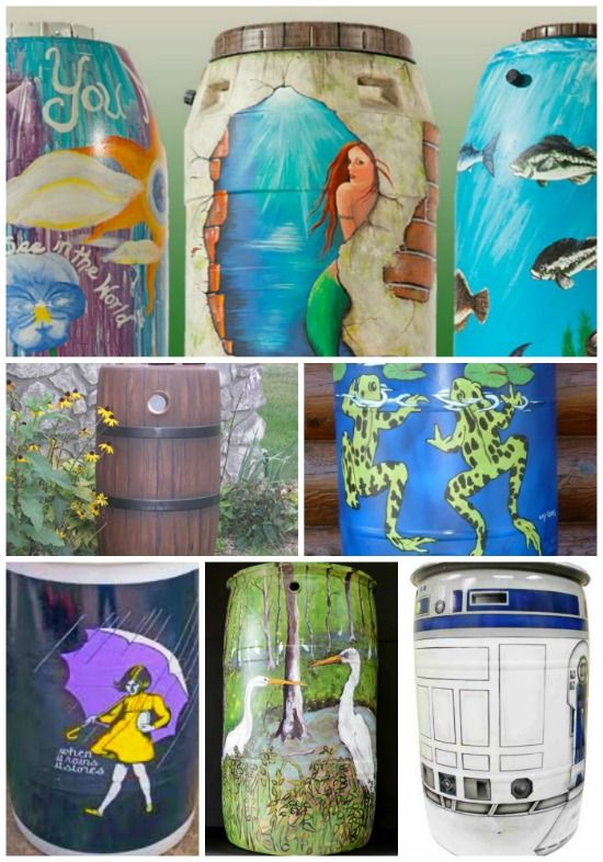 Rain catchment barrels are used as a way collect water for watering your garden. You can even beautify your rain catchment barrels to improve visual appeal.