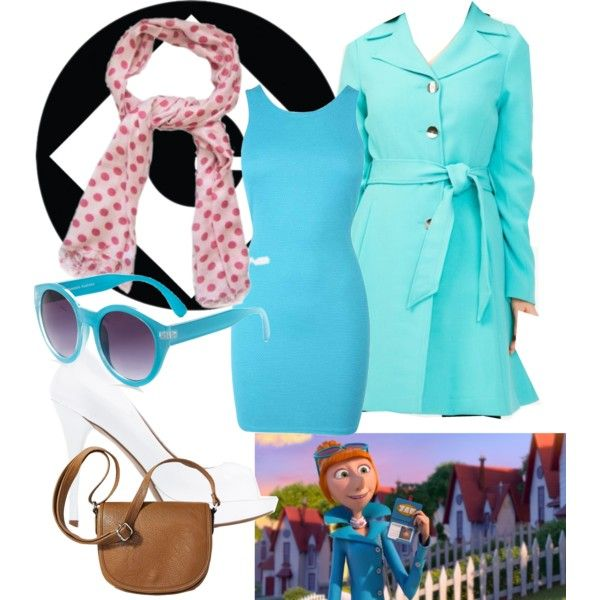 Lucy Wilde Despicable Me by babookworm on Polyvore featuring MANGO, Merona, Quay, movie, Lucy, despicableme, character and wilde