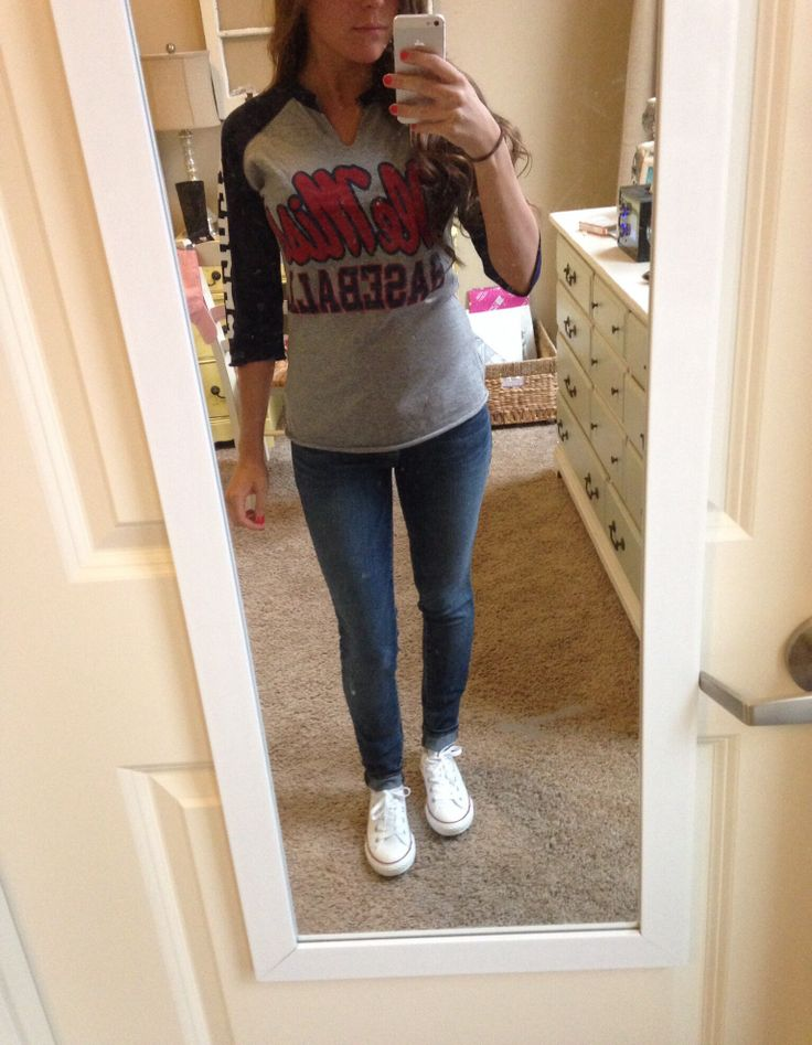 Cute baseball game outfit - converse