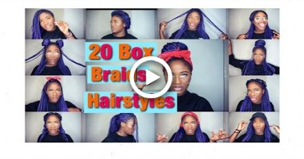 20 Box Braids – Quick & Easy Hairstyles/ for school ! (Beginner Friendly )