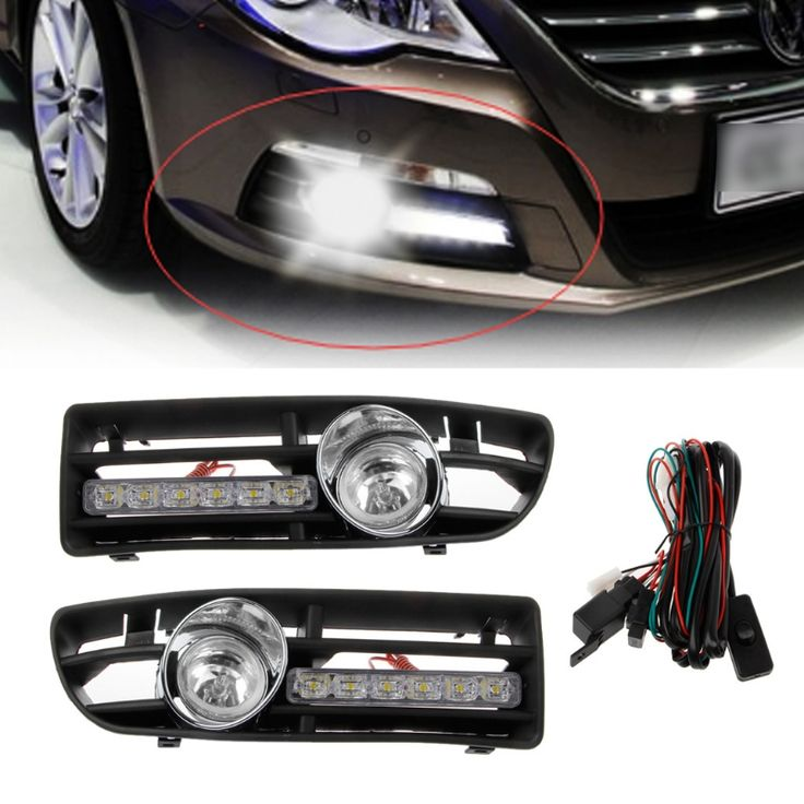 ==> [Free Shipping] Buy Best 1 Pair LED DRL Running Lighthigh power Fog Lamp With SwitchFront Bumper Grille For VW Jetta Bora Mk4 Yellow White Lamp Online with LOWEST Price | 32829811498