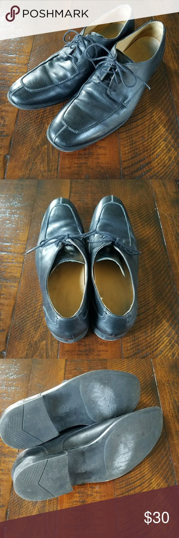 Men's Cole Haan Black Leather Dress Shoes Men's black leather Cole Haan dress shoes.  Great condition and plenty of life left.  High quality, super soft leather and very comfortable. Cole Haan Shoes Oxfords & Derbys