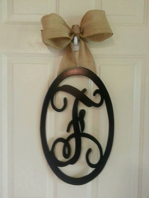 Hat Creek Designs: Large 22 Inch Wood Oval-Choose Your Own Letter!