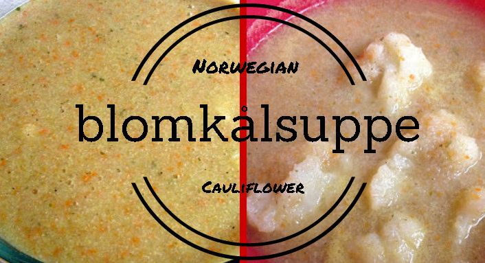 This Norwegian Cauliflower Soup (blomkålsuppe) is a vegan version, but can be made raw vegan with some alterations. It can be served as a liquid/puree or chunky by adding some whole cauliflower florets!