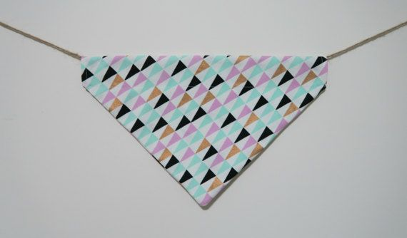 Colourful triangle dog bandana  over the by PawsitiveShopping