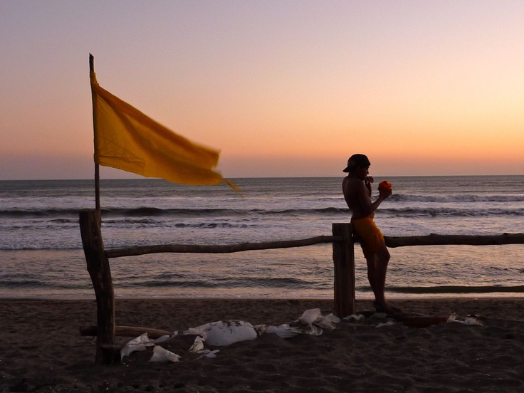 A mango and a sunset, what more do you need? - Las Penitas, Nicaragua
