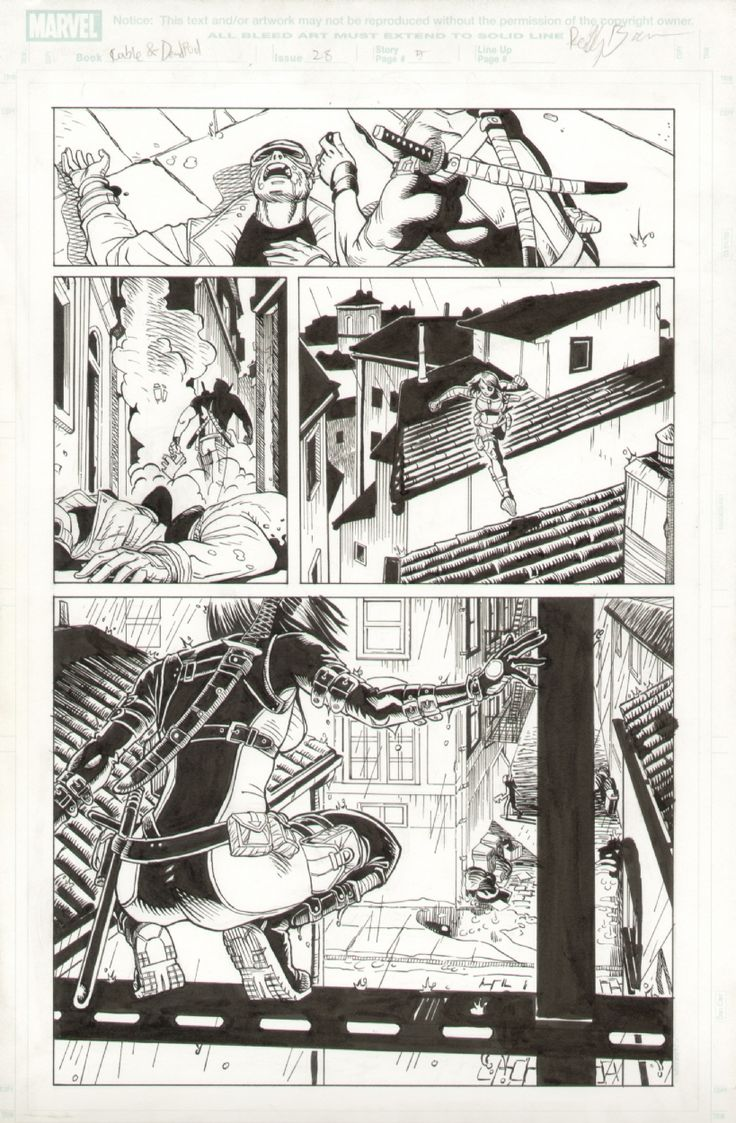 Cable and Deadpool issue 28, pg 5.  Domino Comic Art