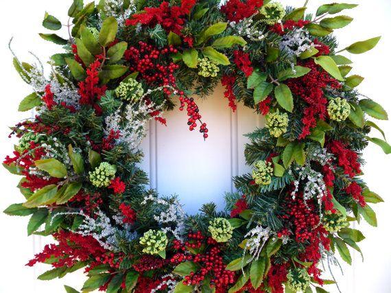Winter Wreath Woodland Wreath Christmas Wreath by SweetIvyWreaths