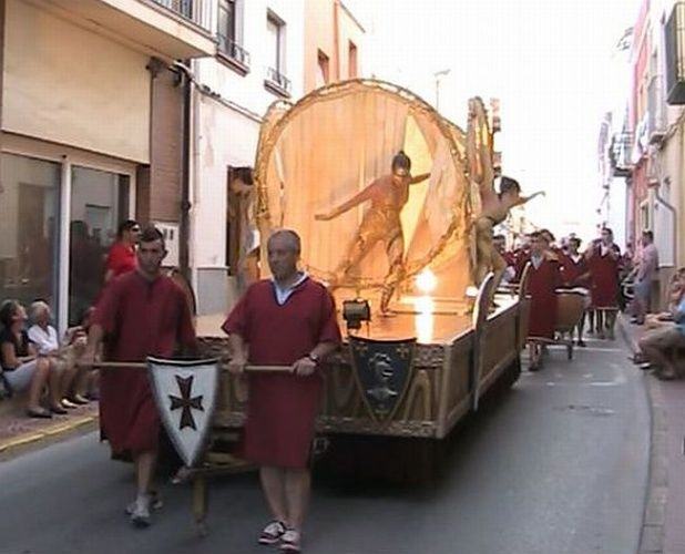 Float at Benitachell Moors and Christians
