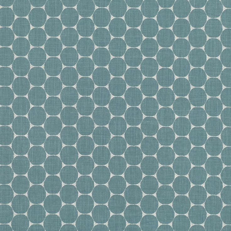 Enso - Teal fabric, from the Hana collection by Villa Nova