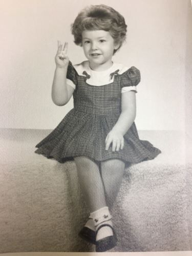 """1960s Beautiful Little Girl 3 Years Old Portrait Photo Black & White 8x10"""""""