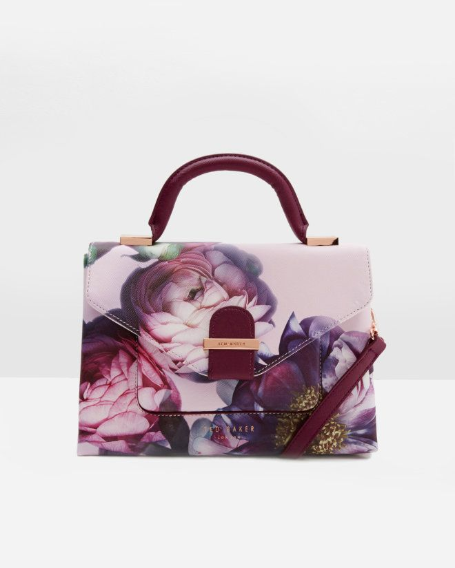 Sunlit Floral crosshatch tote bag - Pale Pink | Bags | Ted Baker