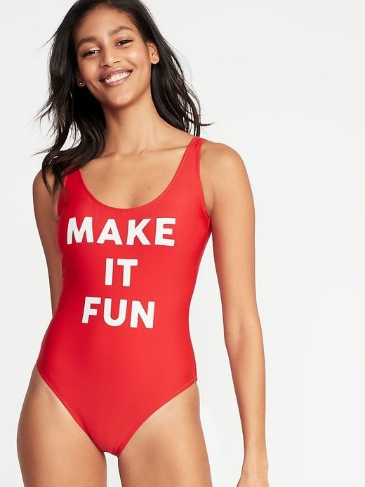8fdc7bc53e6 Graphic Scoop-Back Swimsuit For Women in 2019 | Products | Swimwear ...