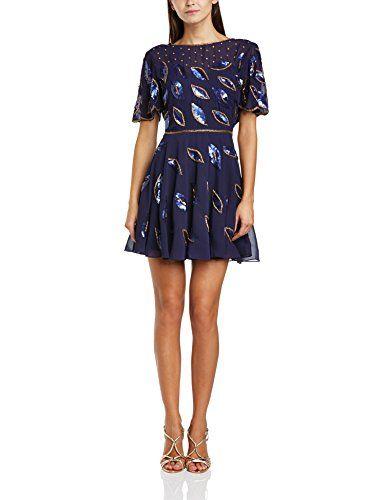 Virgos Lounge Women's Gia Cocktail Short Sleeve Dress, Blue (Navy/Navy Beads), Size 10 Virgos Lounge http://www.amazon.co.uk/dp/B00LIZQ4ZG/ref=cm_sw_r_pi_dp_2DbHub1F0BMM4